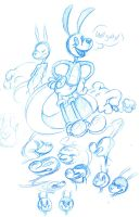 WHY ARE BLUE PENCILS SO GREAT GOSH by VCR-WOLFE