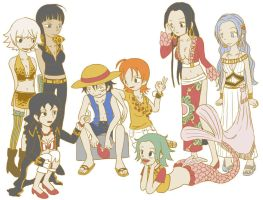 Luffy Harem by Hapuriainen
