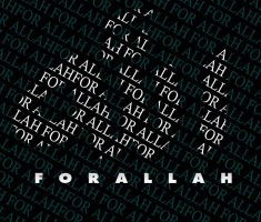 for allah typograohy by moslima