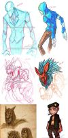 Sketchdump Traditional 022813 by Digimitsu