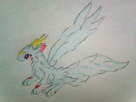 Chibi Light dragon request, redone by minecraftmobs456