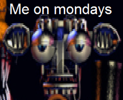Me on mondays by TheWingedSkeleton