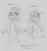 Agatha and Ulrike Koopa by Aso-Designer