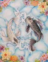Yin and Yang Koi by SophieDragon