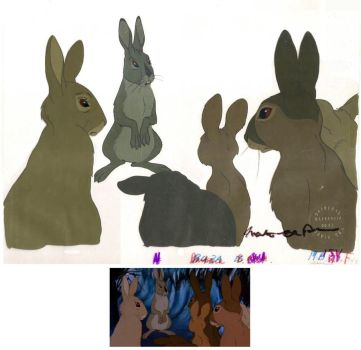 Watership Down Animation Cels by StranglyNormal