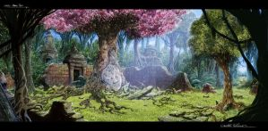 The Legend of King Nal Environment Concept Art 10 by RodGallery