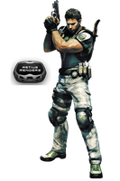 RE Chris Redfield render by Victor76