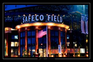 Safeco At Night by UrbanRural-Photo