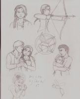The Hunger Games Sketches by ALS123