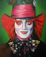 the mad hatter oil canvas by Gh0st-0f-Me