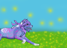 Violet running on a sunny day !!!! by Schania