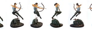 Lara Croft Reborn sculpture finished by suzannewolf