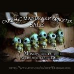 Cabbage mandrake sprouts ooak figures by dodoalbino