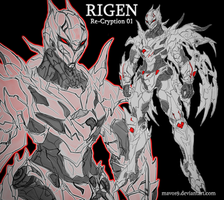 My OC Rigen from Re-Cryption by mavos9