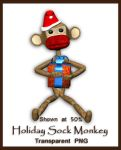 Holiday Sock Monkey by shd-stock