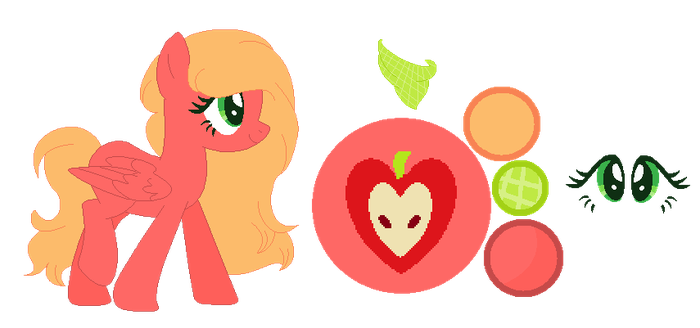 Daisy Apple Reference Sheet by MLPFangirl109