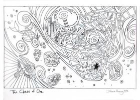 The Chaos of One - Ink by Diana-Huang