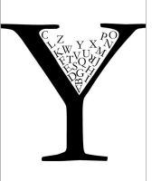 Y Wine Glass of Letters by ArtDAK71