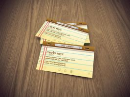Notepad business card by Lemongraphic