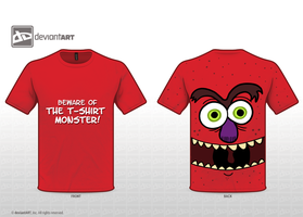 The T-Shirt Monster Striketh! by Emjaidi