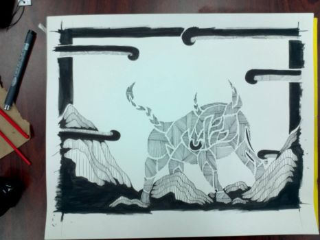 TRADITIONAL : Bull : Line Style by Mgyk