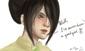Toph's Reaction by Cross-kun