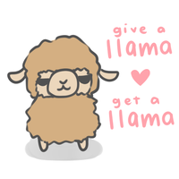 Llama for llama [free to use] by pinkbunnii