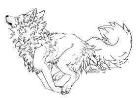 Free Canine - Lineart by Snow-Body