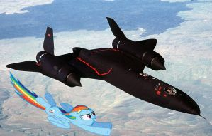Rainbow Dash can Outrun an SR71A Blackbird by bosoxboy521