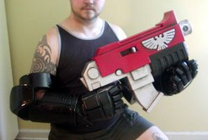 Space Marine arms w bolter by jchas26