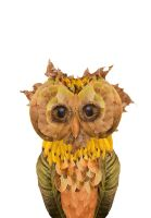 Leaf Project: Owl by Elijah-Snow