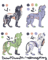 (Wolves) Adoptables 3 - FREE [CLOSED] by RedSwagStory