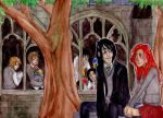 A sunny day at Hogwarts by Mellobird