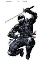 SnakeEyes StormShadow 13 cover B by spidermanfan2099