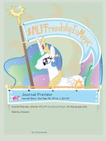 MLPFriendshipIsMagic Journal Skin by Icaron