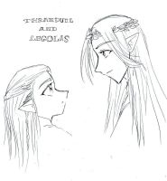 Legolas and Thranduil by fatal-rob0t