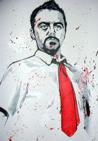 Simon Pegg  Shaun of the Dead by johnhearn