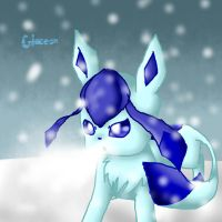 .:Glaceon used Blizzard:. by Kitzophrenic