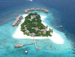 Island areal view by DicklessHunter