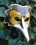 Custom Venetian Raven Mask by merimask