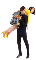 Jang Geun Suk y IU (Pretty Man)  PNG [Render] by GAJMEditions