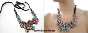 Rainbow Molecule Necklace by Natalie526