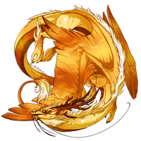 Flight RisingSkin-Wings of Sunrise Imperial Female by NegativeDiamond