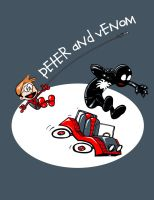 Peter and Venom by ninjaink