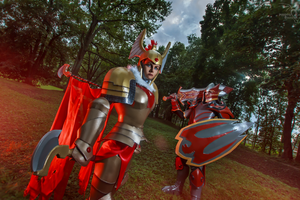 Dota 2 Legion Commander and Dragon Knight cosplay by CharlieHotshot