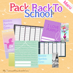 Pack escolar by MaaruuEditions