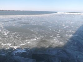 Lake Michigan - Ice Stock by nikkidoodlesx3