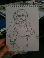 Powergirl Sketch by MHG5