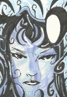 Inque Sketch card by Graymalkin2112