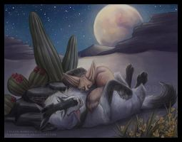Lush Desert Night by FlannMoriath